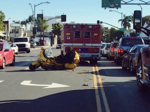 Newark, NJ – Motorcyclist Injured in Car Crash on Springfield Ave near S 12th St